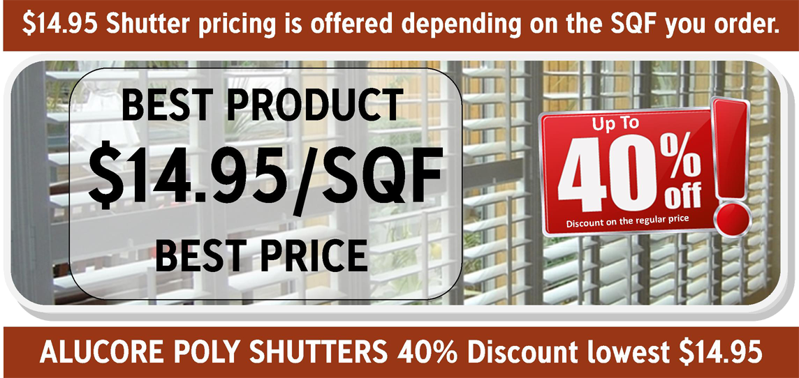 30% off shutters in Orlando